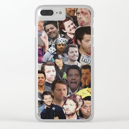 Misha Collins Collage Clear iPhone Case