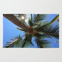 palm tree Area & Throw Rugs featuring Palm Tree by EPART
