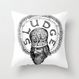 Patriarch of Sludge Throw Pillow