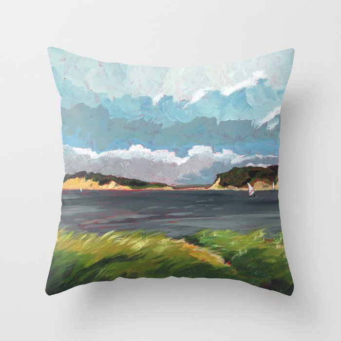 Wells Fleet Cape Cod Throw Pillow By Gordcoulthart Society40 Awesome Cape Cod Decorative Pillows