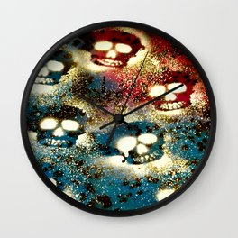 Speckled Skulls. Wall Clock