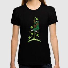 Pole Dance Leprechaun - Pole Fitness Ireland Lucky T-shirt