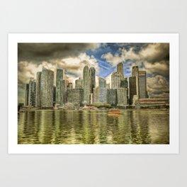 Singapore Marina Bay Sands Art Art Print