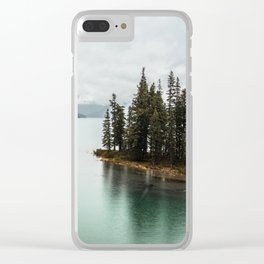 Landscape Photography Maligne Lake Clear iPhone Case