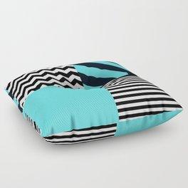 Blue B&W Floor Pillow