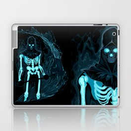 Demon with a scythe in the fire Laptop & iPad Skin