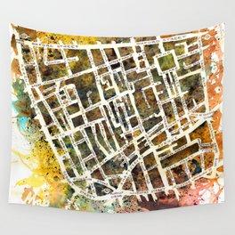 Soho London Map Wall Tapestry