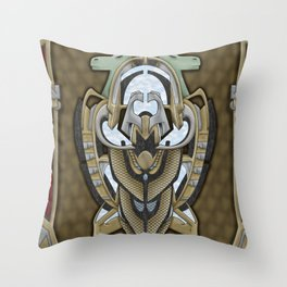Claddagh Hawk - Celtic Inspired Art Deco Throw Pillow