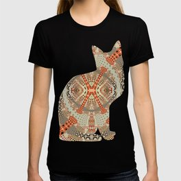 Playful retro patterns in fall colors T-shirt