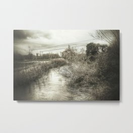 Whimsical Water Landscape Metal Print