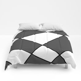 Geometric abstract - gray, black and white. Comforters