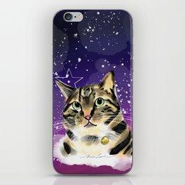 Cat in starrynight iPhone Skin