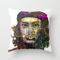 che Throw Pillows featuring Che by JosephusBartin