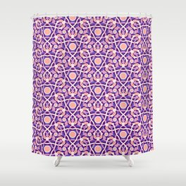 Purple Arabesque Shower Curtain