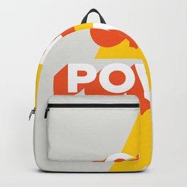 Girl Power // in Orange Grey 2 Backpack