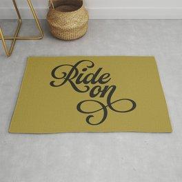 Ride On – Gold/Black Rug