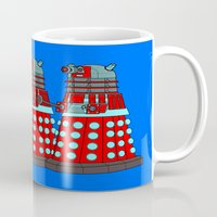 doctor who Mugs featuring Doctor Who by Alli Vanes