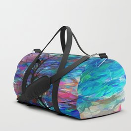 Love Birds Abstract #society6 #decor #lovebirds by Lena Owens @OLena Art Duffle Bag