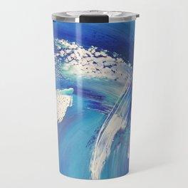 Blue Surf I Abstract Art Travel Mug