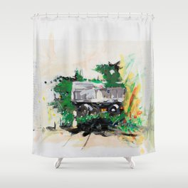 Accident two Shower Curtain