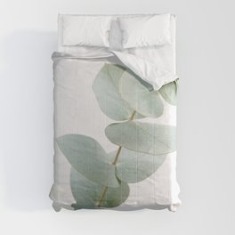 Gentle Soft Green Leaves #1 #decor #art #society6 Comforters