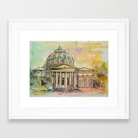 roman Framed Art Prints featuring Ateneul Roman by Nechifor Ionut