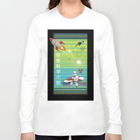 sci fi Long Sleeve T-shirts featuring Sci Fi Summer Surfing by Anderssen Creative Imaging