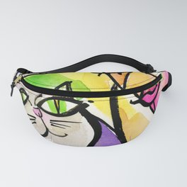 My Crazy Cat No. 5 by Kathy Morton Stanion Fanny Pack