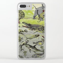 Hunting big game in the wilds of Africa - containing thrilling adventures of the famous Roosevelt Clear iPhone Case