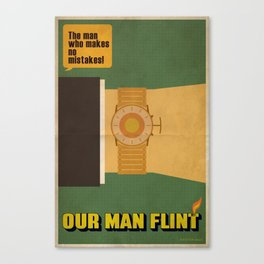 Our Man Flint Canvas Print