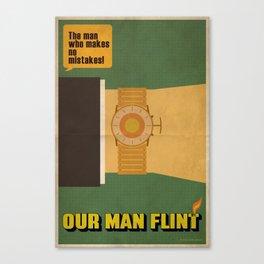 Our Man Flint Canvas Print
