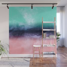 Modern watercolor abstract paint Wall Mural