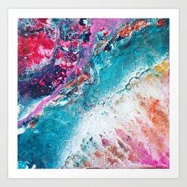 ENERGY   Acrylic fluid art by Natalie Burnett Art Art Print
