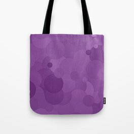 Dewberry Bubble Dot Color Accent Tote Bag