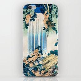 Katsushika Hokusai - A Tour of the Waterfalls of the Provinces (1834) - Yoro Waterfall in Mino iPhone Skin