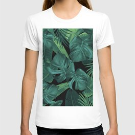 Tropical Summer Night Jungle Leaves Dream #1 #tropical #decor #art #society6 T-shirt