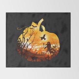 All Hallows Eve Throw Blanket