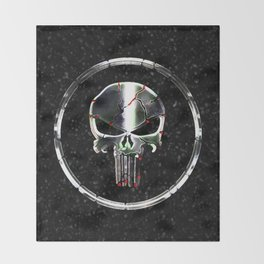 The Chrome Punisher Throw Blanket