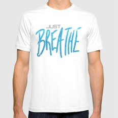 Just Breathe Mens Fitted Tee White MEDIUM