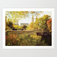 central park Art Prints featuring Central Park by Vivienne Gucwa