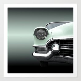 US American classic car 1955 Series 62 Coupe Deville Art Print