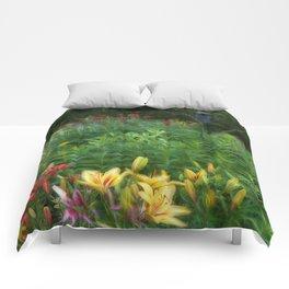 Garden With Lamp Comforters