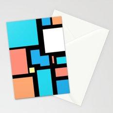 Modern Mondrian (black) Stationery Cards