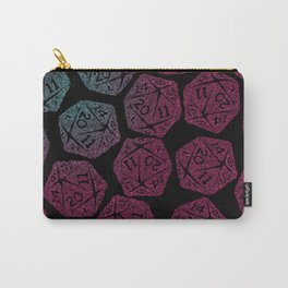 d20 dice pattern - darker gradient pastel - icosahedron Carry-All Pouch