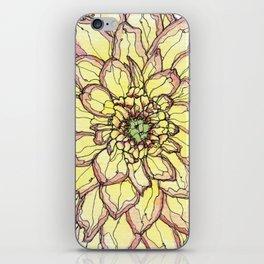 Yellow Flower Love iPhone Skin