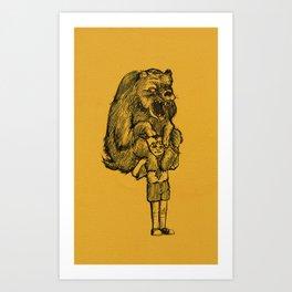 Grizzly Burden Art Print