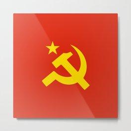 Communist Hammer & Sickle & Star Metal Print