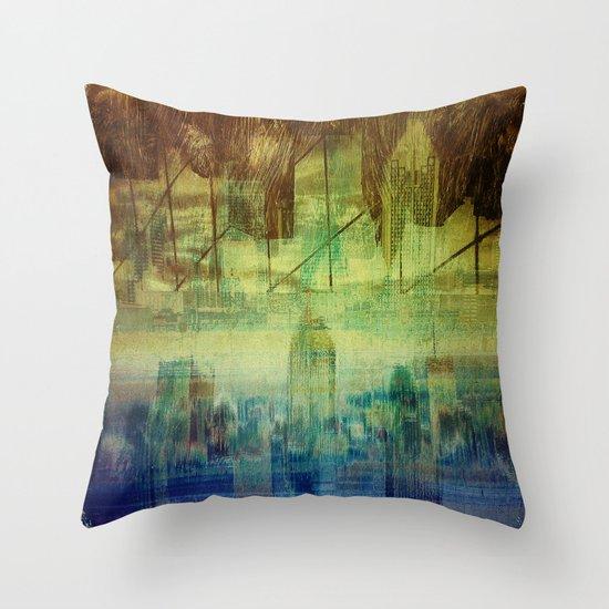 Montreal city Throw Pillow