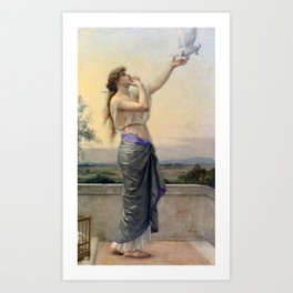 Alexandre Cabanel - Love's Messenger 1883,,, Art Print