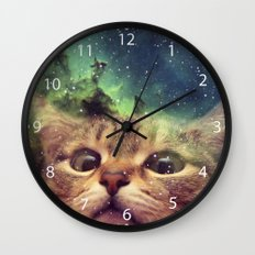 Cat Staring into Space Wall Clock
